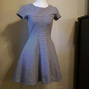 Kate Spade Saturday Striped Fit and Flare Dress